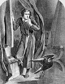 Poe's The Raven illustration by Tenniel