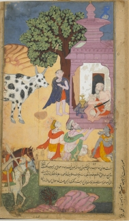 Vasistha and cow of abundance